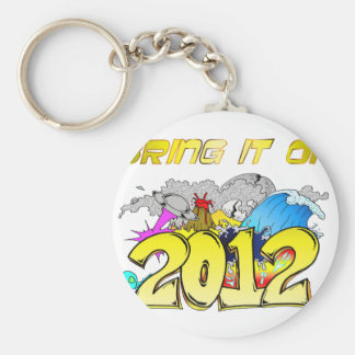 BRING it on 2012 Basic Round Button Key Ring