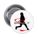 Bring it Red Batter Softball 6 Cm Round Badge