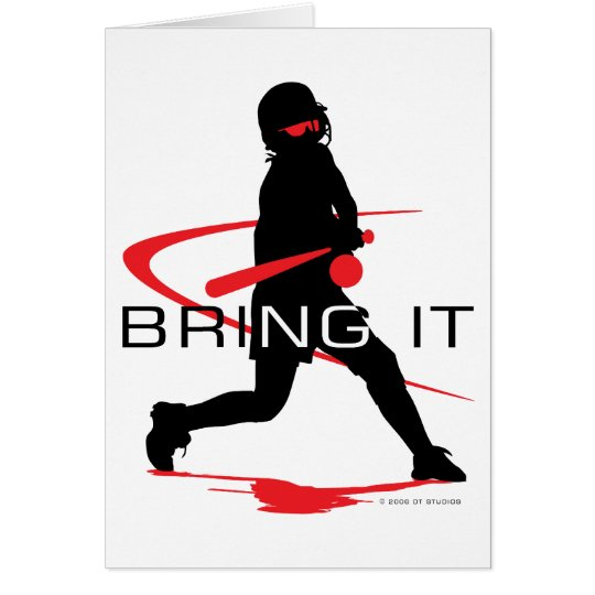 Bring it Red Batter Softball Card
