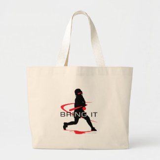 Bring it Red Batter Softball Jumbo Tote Bag