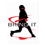 Bring it Red Batter Softball Postcard