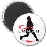 Bring it Red Batter Softball Refrigerator Magnet