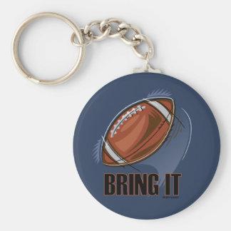 BRING IT - SPORTY SLANG - Football Keychain