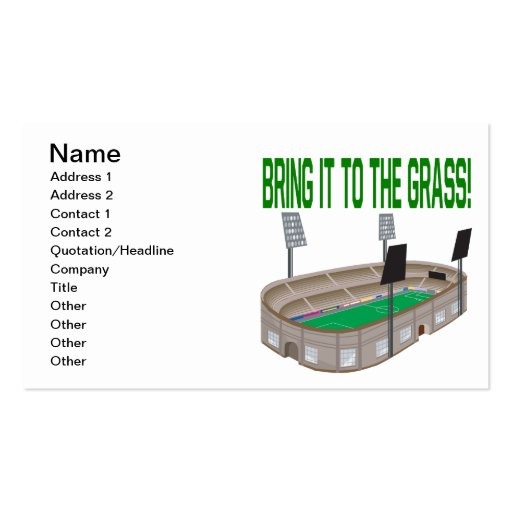 Bring It To The Grass Business Card