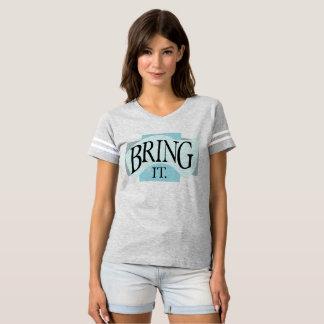 *BRING IT* Tshirt | Blue, Silver Coloring