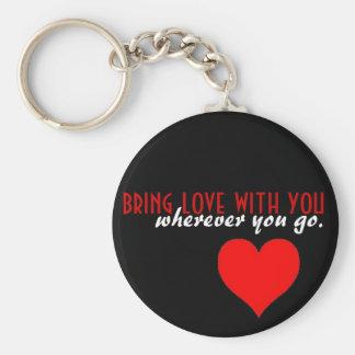Bring love key ring