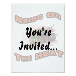 Bring On Heat Chocolate Hot Habanero Pepper 11 Cm X 14 Cm Invitation Card