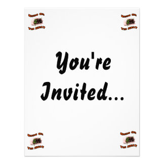 Bring On Heat Chocolate Hot Habanero Pepper Custom Invitation