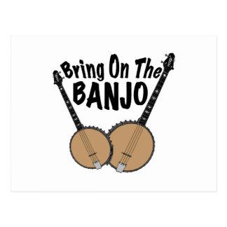 Bring on the Banjo Postcard