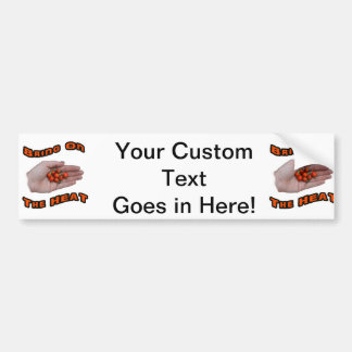 Bring On The Heat Cascabel Hot Peppers Hand Bumper Stickers