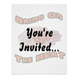 Bring On The Heat Cascabel Hot Peppers Hand Invitations