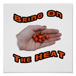 Bring On The Heat Cascabel Hot Peppers Hand Print