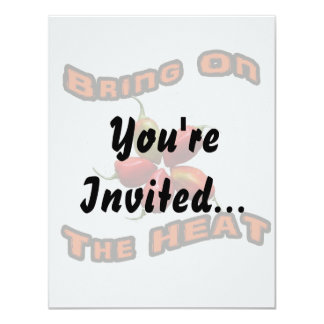 Bring On The Heat Five Hot Habanero Peppers 11 Cm X 14 Cm Invitation Card