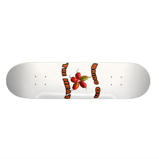 Bring On The Heat Five Hot Habanero Peppers Skateboard Deck