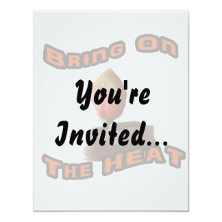 Bring On The Heat Habanero Fingers Hot Pepper 11 Cm X 14 Cm Invitation Card