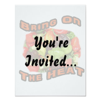 Bring On The Heat Hot Pepper Pile Graphic 11 Cm X 14 Cm Invitation Card
