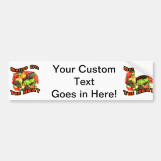 Bring On The Heat Hot Pepper Pile Graphic Bumper Stickers