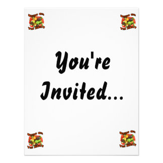 Bring On The Heat Hot Pepper Pile Graphic Personalized Invitations