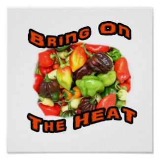 Bring On The Heat Hot Pepper Pile Graphic Poster
