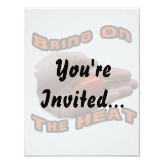 Bring On The Heat One Hot Habanero Pepper 11 Cm X 14 Cm Invitation Card