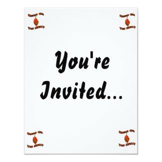 Bring On The Heat Single Hot Habanero Pepper 11 Cm X 14 Cm Invitation Card