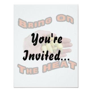 Bring On The Heat White Hot Pepper Pile Hand 11 Cm X 14 Cm Invitation Card