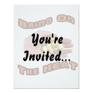 Bring On The Heat White Hot Pepper Pile Hand Invitations