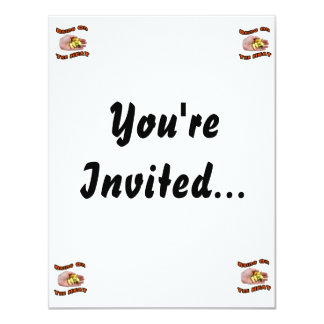 "Bring On The Heat White Hot Pepper Pile Hand 4.25"" X 5.5"" Invitation Card"