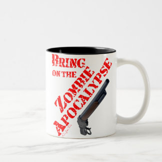 Bring on the Zombie Apocalypse Two-Tone Coffee Mug