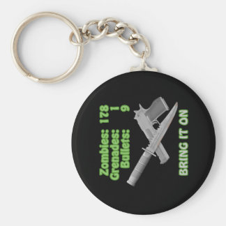 Bring on the Zombies Basic Round Button Key Ring