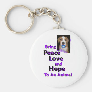 bring peace love and hope to a animal key chain