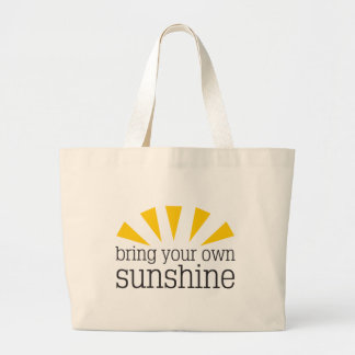 Bring Your Own Sunshine Jumbo Tote Bag