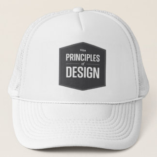bring your principles design trucker hat