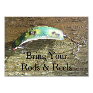 Bring Your Rods & Reels 13 Cm X 18 Cm Invitation Card