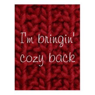 Bringin' Cozy Back Postcard