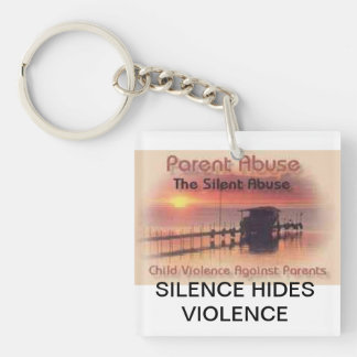 Bringing Awareness to Parental Abuse Single-Sided Square Acrylic Key Ring