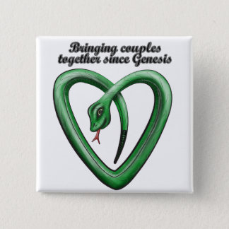 Bringing couples together 15 cm square badge