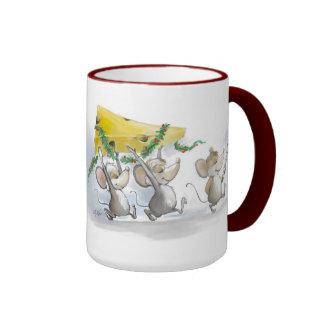 Bringing In The Christmas Cheese Mug