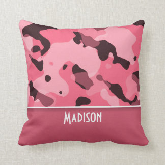 Brink Pink Camo; Personalized Cushion