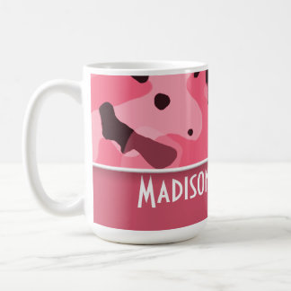 Brink Pink Camo; Personalized Classic White Coffee Mug