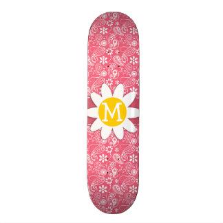 Brink Pink Paisley Cute Daisy Skate Board