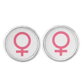 Brink Pink Venus Symbol Cufflinks
