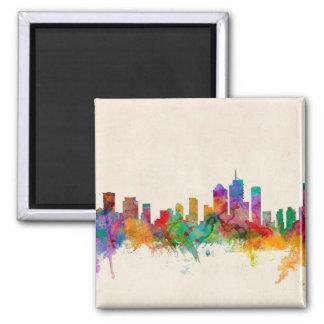 Brisbane Australia Skyline Cityscape Square Magnet
