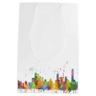 BRISBANE, AUSTRALIA SKYLINE MEDIUM GIFT BAG