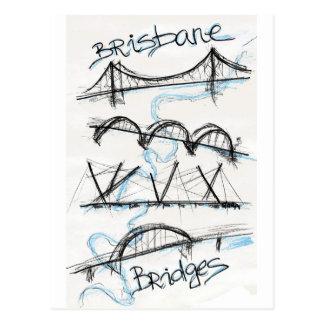 Brisbane bridges postcard