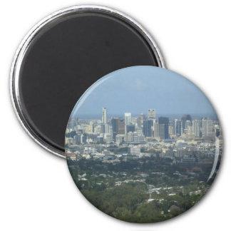 Brisbane City 6 Cm Round Magnet