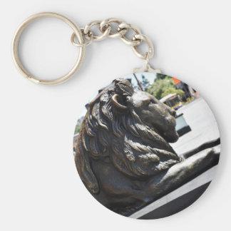 BRISBANE CITY LION KING GEORGE SQUARE AUSTRALIA BASIC ROUND BUTTON KEY RING