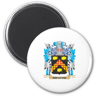 Brisbane Coat of Arms 6 Cm Round Magnet