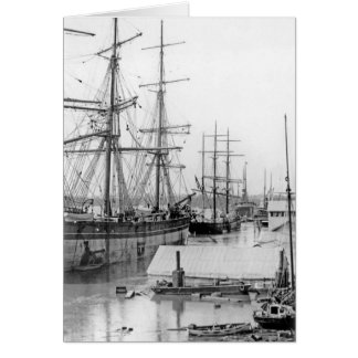 Brisbane:  Eagle Street Wharf 1893 Greeting Card