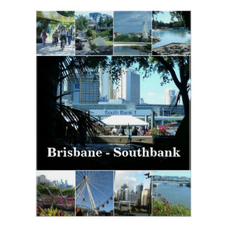Brisbane 's Beautiful Southbank Poster